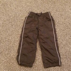 Gymboree 3t athletic jersey lined pants olive